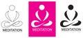 Meditation Yoga logo Royalty Free Stock Photo