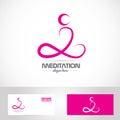 Meditation yoga pose logo Royalty Free Stock Photo