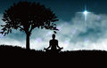 Meditation of yoga Royalty Free Stock Photo