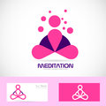 Meditation yoga zen pink logo Royalty Free Stock Photo