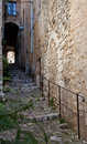 Mediterranean alley in Southern France Royalty Free Stock Images