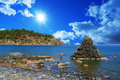 Mediterranean amazing seascape in turkey Royalty Free Stock Images