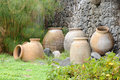 Mediterranean amphoras Royalty Free Stock Photography