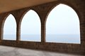 Mediterranean architecture lebanon traditional lebanese with view of the sea Royalty Free Stock Image