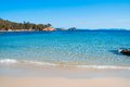 Mediterranean beach with clear sea located in the south east of france Stock Photos