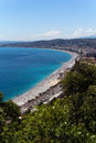 Mediterranean beach nice france view point city of Royalty Free Stock Photo