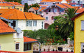 Mediterranean cityscape with orange houses Royalty Free Stock Photo