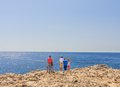 Mediterranean coast. Rhodes Island. Greece Royalty Free Stock Photo