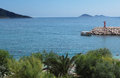 Mediterranean coast sea in kas turkey Royalty Free Stock Images