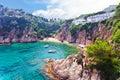 Mediterranean coast of spain seascape costa brava Royalty Free Stock Images