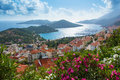 Mediterranean coastline landscape view in anatolia turkey Stock Photos