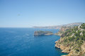 Mediterranean coastline rocky around cabo de la nao javea spain Stock Images