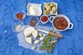 Mediterranean cuisine ingredients