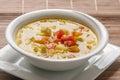 Mediterranean dish of zucchini and tomato soup Stock Image