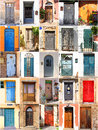 Mediterranean doors background set from Royalty Free Stock Image