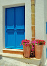 Mediterranean doorway typical on the sicilian island of maretimmo Royalty Free Stock Photo