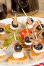 Mediterranean finger food Stock Photography