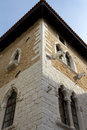 Mediterranean gothic house detail Royalty Free Stock Image