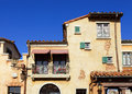 Mediterranean house with clear blue sky Stock Photography