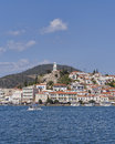 Mediterranean island view poros greece saronic gulf Royalty Free Stock Images
