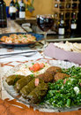 Mediterranean mezze plate Royalty Free Stock Photo