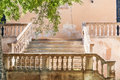 Mediterranean old stone stairs Royalty Free Stock Photo