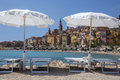 Mediterranean resort of Menton - French Riviera Stock Photos
