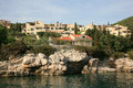 Mediterranean resort sea coast in croatia Royalty Free Stock Photo