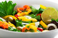 Mediterranean salad Stock Photography