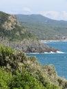 Mediterranean sea along Tuscan coastline in Livorno, Italy Royalty Free Stock Photo
