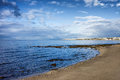 Mediterranean sea coastline in marbella spain andalusia region malaga province Stock Image