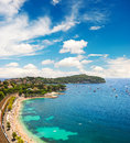 Mediterranean Sea. French riviera. Landscape blue sky Royalty Free Stock Photo