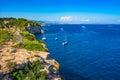 Mediterranean Sea Majorca Spain Coast of Portals Vells Royalty Free Stock Photo