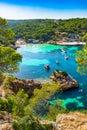 Mediterranean Sea Spain Majorca beautiful beach Portals Vells Royalty Free Stock Photo