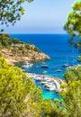 Mediterranean Sea Spain Majorca Marina Harbor of Portals Vells Royalty Free Stock Photo