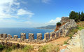 Mediterranean sea view from fortress alanya panorama of turkey Stock Image