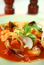 Mediterranean Seafood Soup Stock Photography