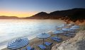 Mediterranean Sunset at Pefkos Stock Image