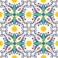 Mediterranean tile seamless vector texture of Stock Photo