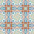 Mediterranean tile vector illustration of sicilian Stock Photo