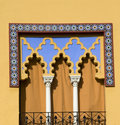 Mediterranean Window Treatment Royalty Free Stock Images