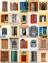 Mediterranean windows with shutters from Stock Photos