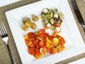 Meditteranean vegetarian meal Stock Photos