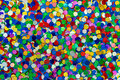 Medium blue green red pink yellow glitter macro photo of Stock Photos