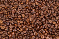 Medium roasted fresh coffee beans angle shot Stock Photos