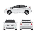 Medium size city car  illustration Stock Photos