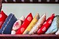 Medium-sized pile of oriental cushions Royalty Free Stock Photo