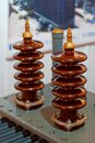 Medium Voltage insulators Royalty Free Stock Photo