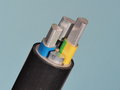Medium voltage 1kV Aluminum sector cable end Royalty Free Stock Photo