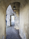 Medival archway in the town landsberg am lech in bavaria germany Stock Images